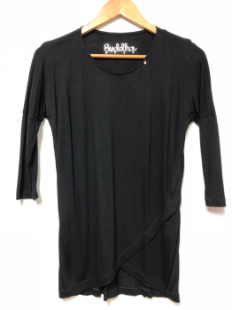 MALA LONG SLEEVE TOP - BLACK