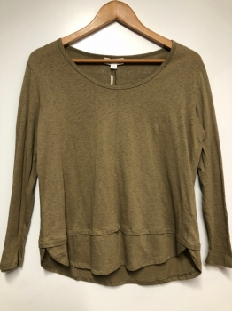AURORA LONG SLEEVE TEE - KHAKI